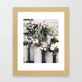Flower Display Framed Art Print