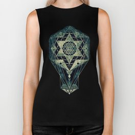 Sacred Geometry for your daily life- SRI YANTRA Biker Tank