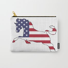 "Horse ""American Flag"" Carry-All Pouch"