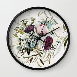 Rustic and Free Bouquet Wall Clock