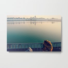 Rituals of India. INDIA TEMPLE LAKE  Metal Print