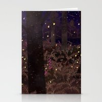 fireflies Stationery Cards featuring fireflies by Lara Paulussen