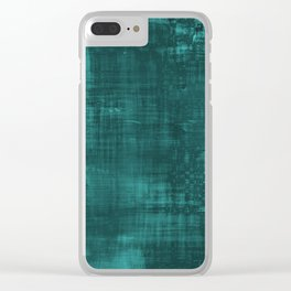 Teal Green Solid Abstract Clear iPhone Case