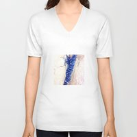 shells V-neck T-shirts featuring Blue Shells by Ken Seligson