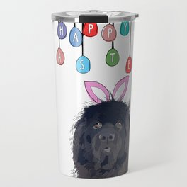 Happy Easter - Newfie Bunny Travel Mug