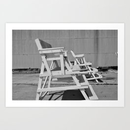asbury park off-season Art Print