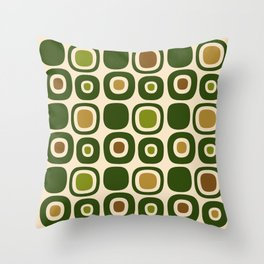 Mid Century Modern Garden Path Pattern 321 Throw Pillow