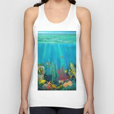 Undersea Art With Coral Unisex Tank Top
