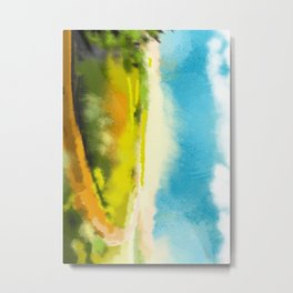 Colorful Abstract Landscape Metal Print