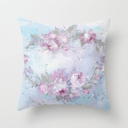 Crown Rose Throw Pillow