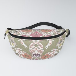 Spring Pattern with Poppy Flowers and Gladioli Fanny Pack