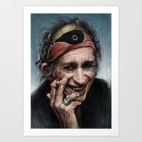 riff raff Art Prints featuring The Human Riff by AndreKoeks