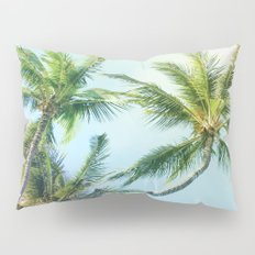 Relaxing Rainbow Color Palms Pillow Sham