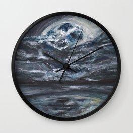 blame it on the full moon Wall Clock