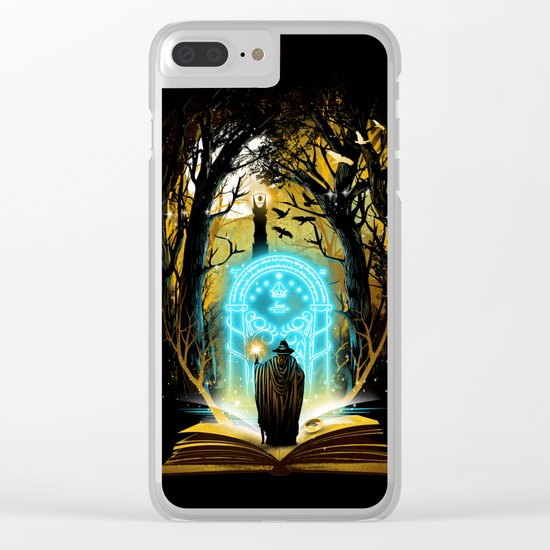 Book of Magic and Adventures Clear iPhone Case