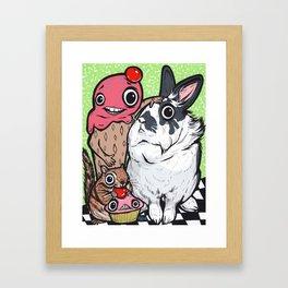 Lionhead Rabbit Friends Framed Art Print