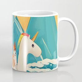 Corgi and the rainbow unicorn Coffee Mug