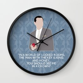 The Reichenbach Fall - Jim Moriarty Wall Clock