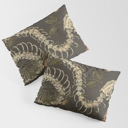 Snake Skeleton Pillow Sham