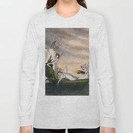 """Fairies Floating Downstream"" by Amelia Jane Murray Long Sleeve T-shirt"