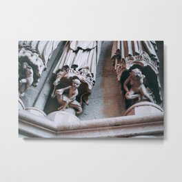 Amiens Cathedral sculpture Metal Print