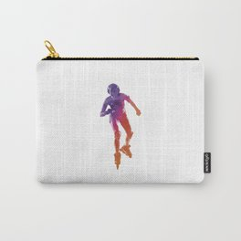 Woman in roller skates 01 in watercolor Carry-All Pouch