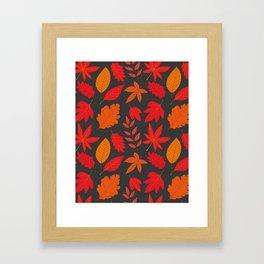 Red autumn leaves Framed Art Print