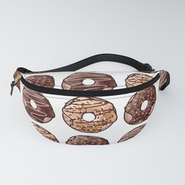 Chocolate Donuts Pattern Fanny Pack