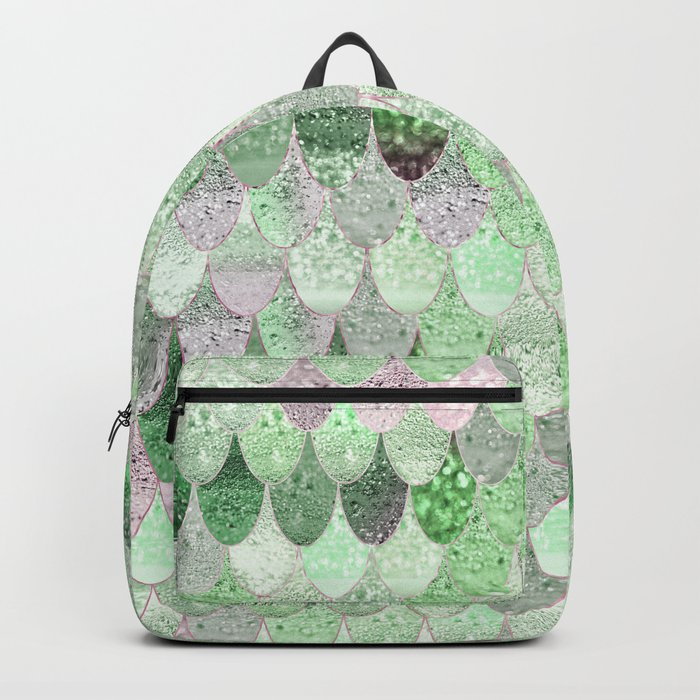 SUMMER MERMAID - GREEN & PINK Backpack