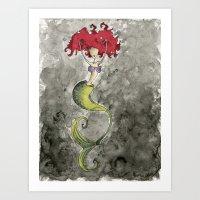 ariel Art Prints featuring Ariel by Jena Sinclair
