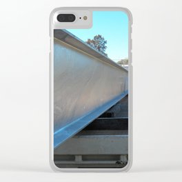 solid beam of steal Clear iPhone Case