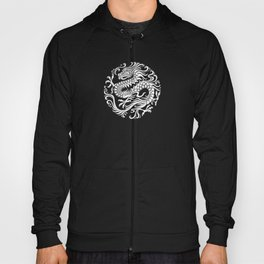Traditional White and Black Chinese Dragon Circle Hoody