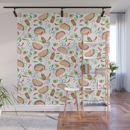 """Tacos are """"Hot Stuff"""" and we love them! Wall Mural"""