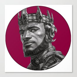 King James With the crown nba Canvas Print