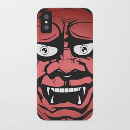 Red Hannya iPhone Case