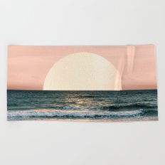 Summer Sunset Beach Towel