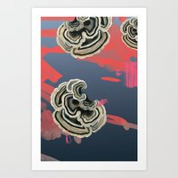 Art Print featuring Mushrooms in the Tundra by Rachel Gottesman