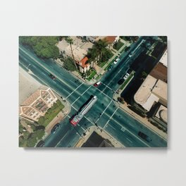 Perpendicular-Vehicular Metal Print