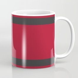 Red and Gray Bold Sport Jersey Stripes Coffee Mug