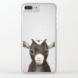 Baby Goat - Colorful Clear iPhone Case