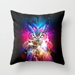 Owl Fighter Throw Pillow