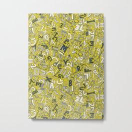 A1B2C3 chartreuse Metal Print