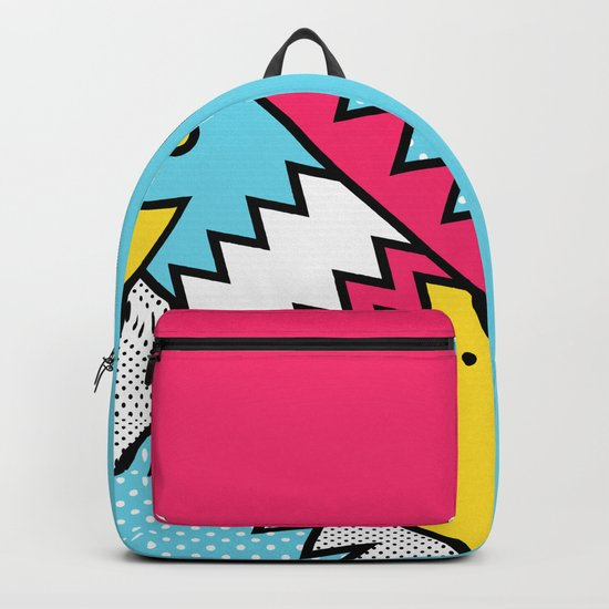 ZigZag 80s Memphis Pattern Backpack