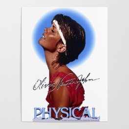 Olivia Newton-John Physical Concert 1982 Vintage Reproduction Poster