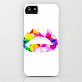 Labios geometricos iPhone Case