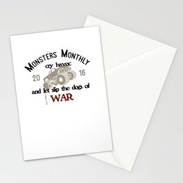 Monsters Monthly Cry Havoc Stationery Cards