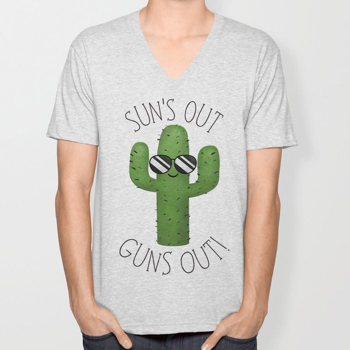 Sun's Out Guns Out! Unisex V-Neck