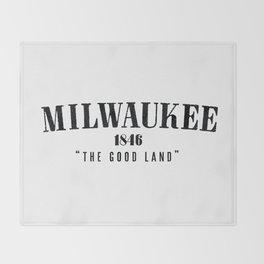 Milwaukee — The Good Land Throw Blanket