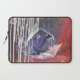 blue french bulldog in a paperboat Laptop Sleeve