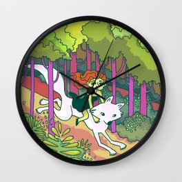 A Forest Romp Wall Clock